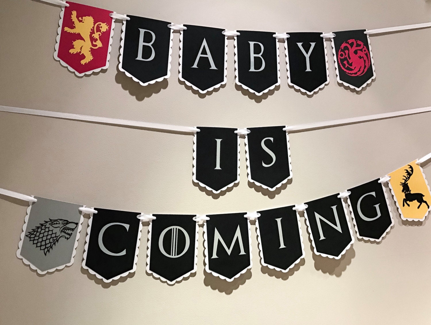 Google themes game of thrones - Baby Is Coming Baby Shower Game Of Thrones Banner