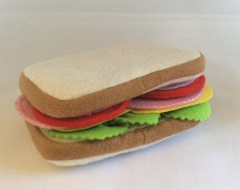 Felt Ham Sandwich, ham, tomato, cheese, lettuce - play with your food