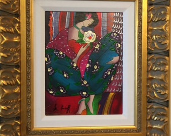 Reduced - Linda Le Kinff Petite Fille Serigraph