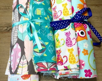 Novelty Scrap Pack, 40 Piece Fabric Scrap Pack full of Novelty Prints, Weave and Woven