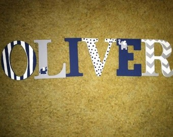 Homemade, made to order wooden painted letters