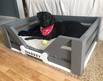 "Large Custom Dog Bed 38""x28""x12"""