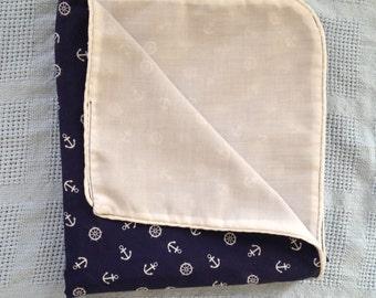 Anchors Away! Nautical Cotton Blanket