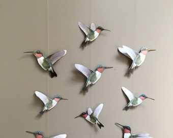 Ruby Throated Hummingbird Mobile