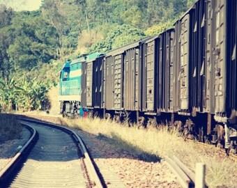 The Train Photography, Transportation Photo, Railway Photography, Train wall print, Track wall print, Gifting ideas,  Home Decor.
