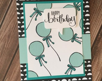 Happy Birthday Card, Stampin Up Card, Handmade Card