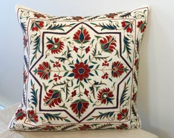 Uzbek suzani pillow cover # 19