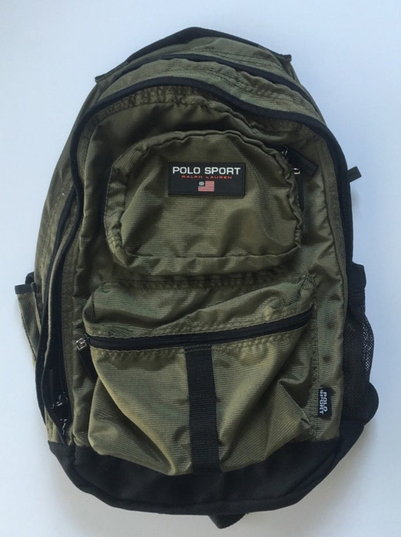 Vintage Olive Polo Sport ralph lauren backpack
