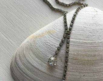 rhinestone choker necklace. Bling!