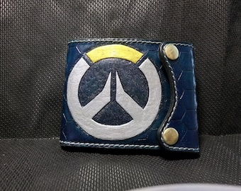 Handmade wallet (natural leather, stylished by Overwatch)