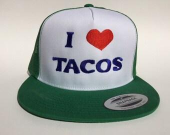 I love tacos hat (Green)