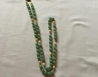Green Quartz Jade like Necklace