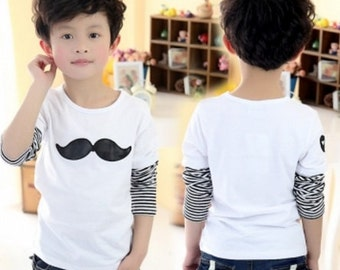 Adorable Boys Mustache Tshirt