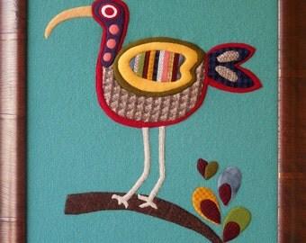 Sassy Birds Wool Applique