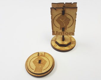 Guild ball Union Victory Goal and Momentum Dial