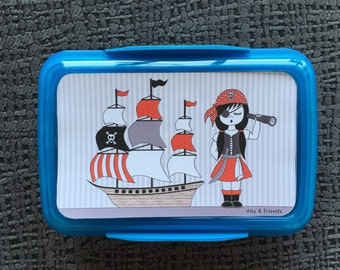 Girl pirate lunch box