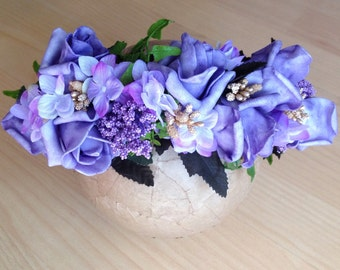 Purple statement crown