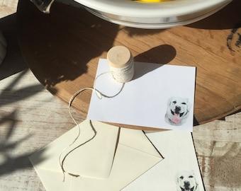 Custom Watercolor Pet Note Cards