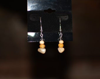 dangle pebble earrings