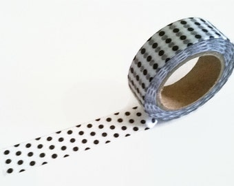 Black&White dot washi tape