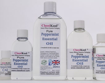Classikool Pure Peppermint Oil - Essential Oil for Aromatherapy & Massage  (Free UK Mainland Postage)