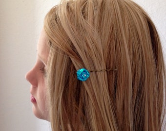 Bobby Pins Aquamarine, Hair Pins, Flower Pins, Hair Accessories, Party Favors