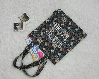 "Cotton Double side Eco Bag/Totes Bag ""Flower Garden"""
