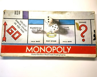 Vintage Monopoly 1970's Edition - Complete Game