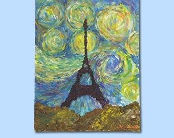 Eiffel Tower Starry Night