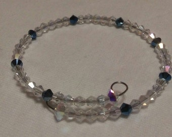 Swarovski Crystal Bracelet with Navy Blue