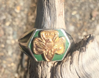 Sterling silver girl scout ring