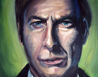 Fine Art Print Portrait of Bob Odenkirk Saul Goodman Jimmy McGill AMC Breaking Bad Better Call Saul Oil Painting Colorful Abstract
