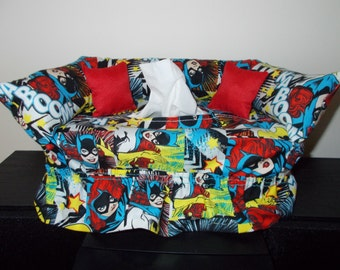 Bat Girl Couch Tissue Box Cover