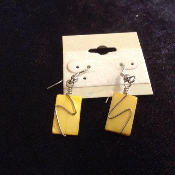 Yellow Swish Earrings