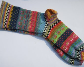 Colorful fair Isle socks Abeo Gr. 40 / 41