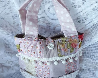 Shabby Chic handbag Handmade Handbag Bag medium tote bag One of a Kind