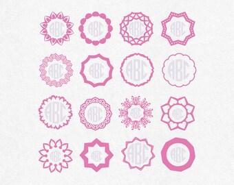 Circle Monogram Frames SVG monogram SVG file SVG designs svg files saying bundle tee pee svg tee pee clipart cutting files monogram