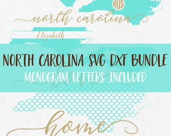 North Carolina Svg Dxf Bundle svg fonts svg monograms svg monogram frames svg files for silhouette svg files for cricut svg svg mermaid
