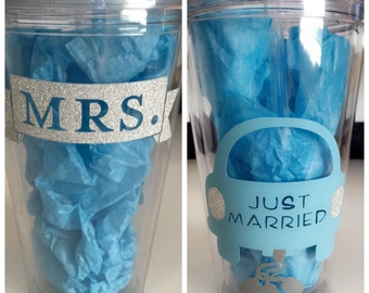 Just Married tumbler
