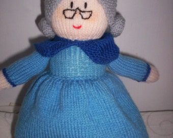 Hand Knitted Doll - Four Faced Doll in One - Topsy Turvy Doll