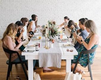 Farmhouse Table (White)