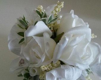 Ivory Rose Elegant Wedding Flower Pomanders decor X 8
