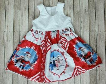 Rudolph Panel Holiday Dress
