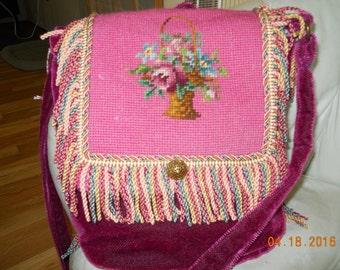 Fun Fuchsia Vintage Mohair Bag