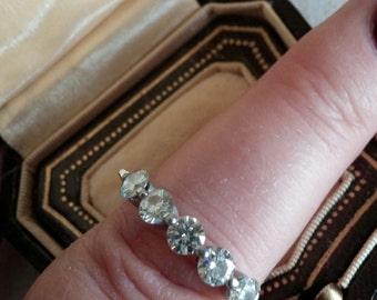 14k Gold 1.25ct Diamond Wedding Engagement Band Ring