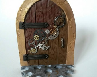 Golden Steampunk Fairy Door