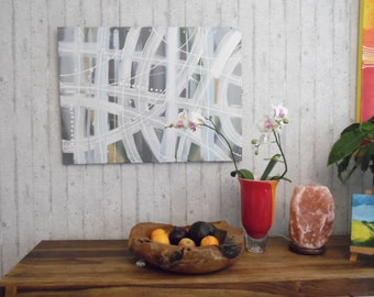 Modern painting on stretched canvas