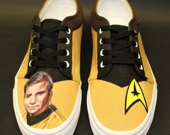 STAR TREK Custom Painted (Airbrush) Shoes - Captain Kirk (William Shatner)
