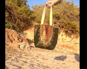 """Africa"" green Tote"