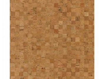 Cork fabric rolled up mosaic 45x30cm 0, 5 mm